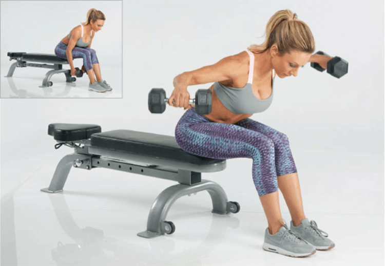 Tips 15 Effective Exercises To Reduce Back Fat - Bent Over Rear Delt Raises