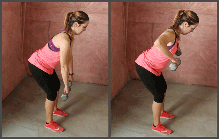 Bent-over Dumbbell Rows