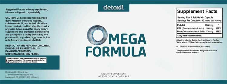 Detoxil Burn Supplement Facts