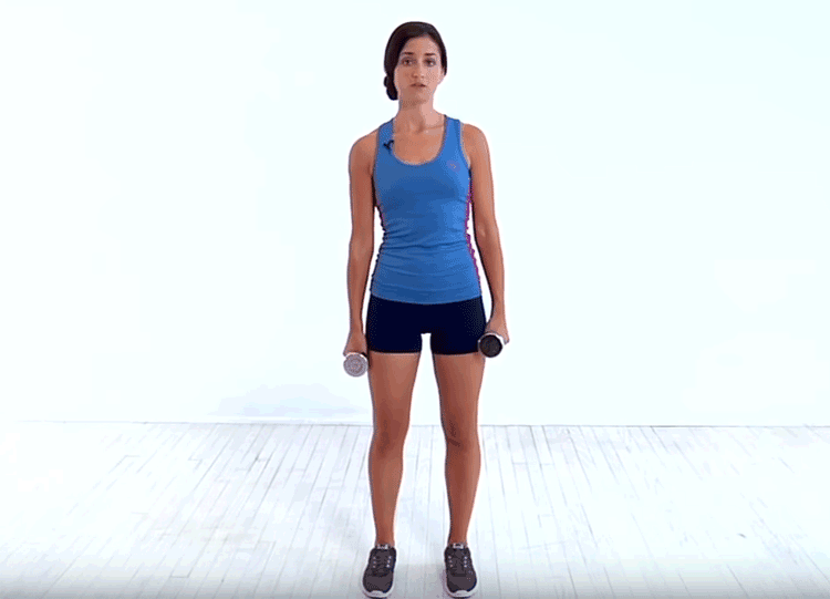 Top 10 Exercises To Reduce Side Fat For Women - Dumbbell Side Bend