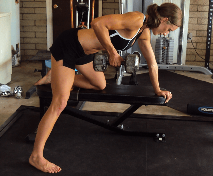 Tips 15 Effective Exercises To Reduce Back Fat - One Arm Dumbbell Row
