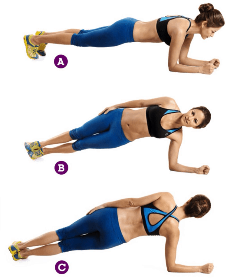 Tips 8 Effective Exercises to Reduce Hanging Belly Fat - Rolling Plank Exercise