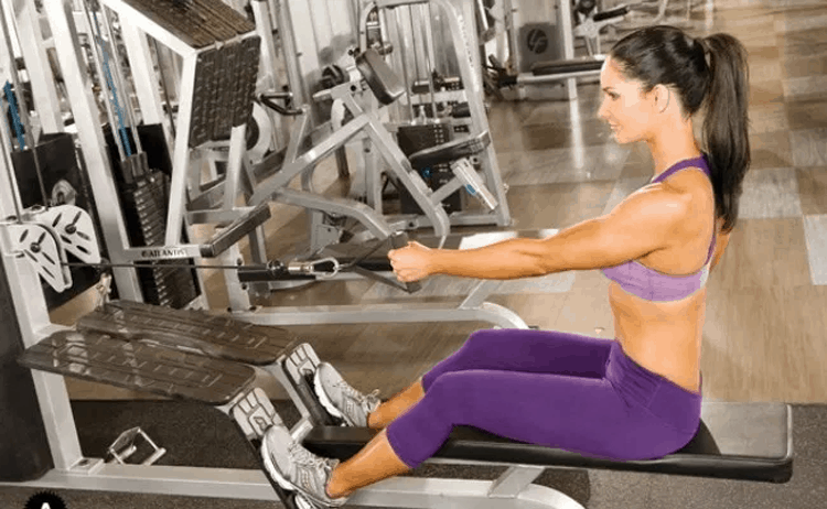 Tips 15 Effective Exercises To Reduce Back Fat - Seated Cable Row