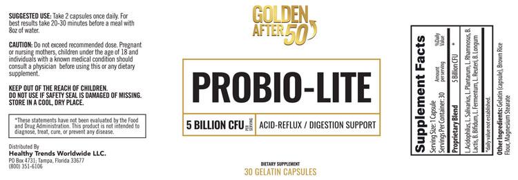 Probio-Lite Supplement Fact