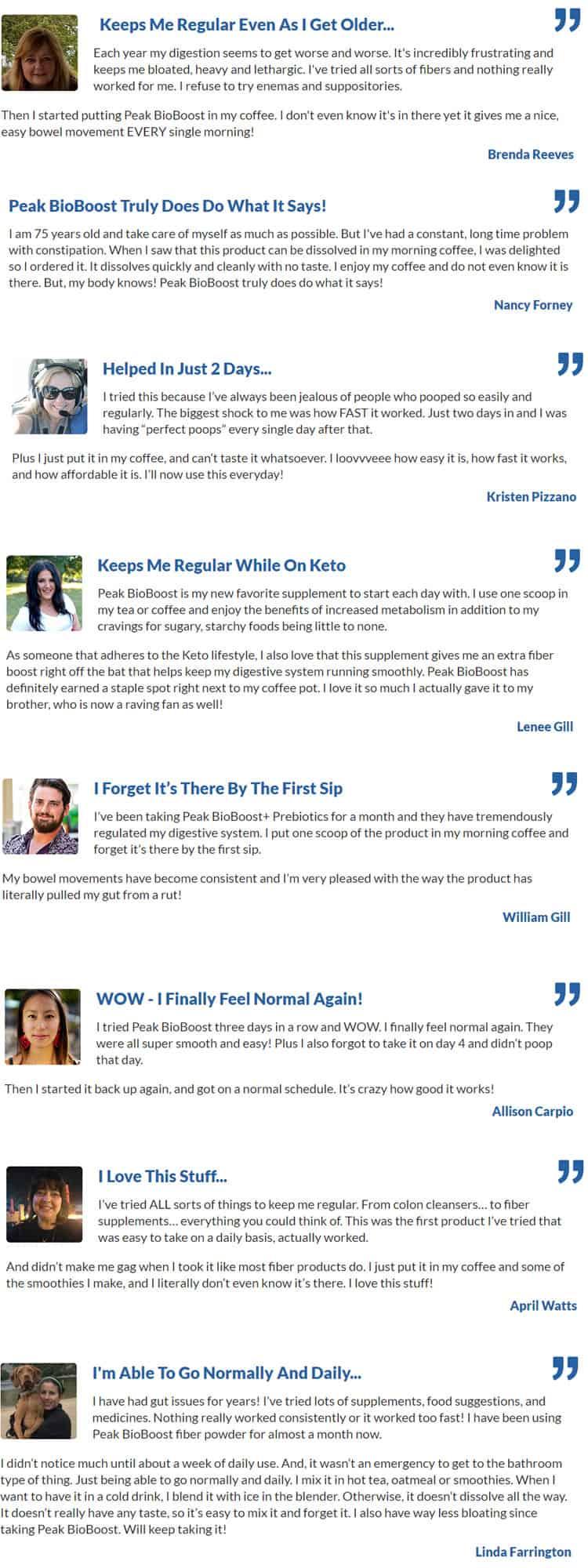 Peak BioBoost Customer Reviews