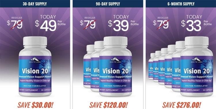 Vision 20 Price