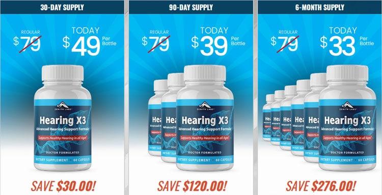 Hearing X3 Price