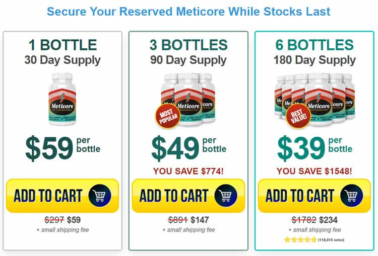 Meticore Price