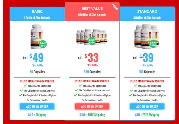 Slim Naturals Price