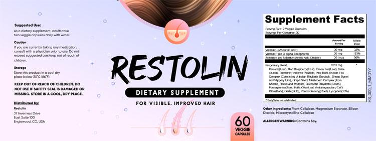 Restolin Supplement Facts