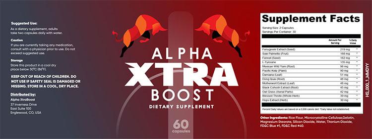 Alpha Xtra Boost Supplement Facts