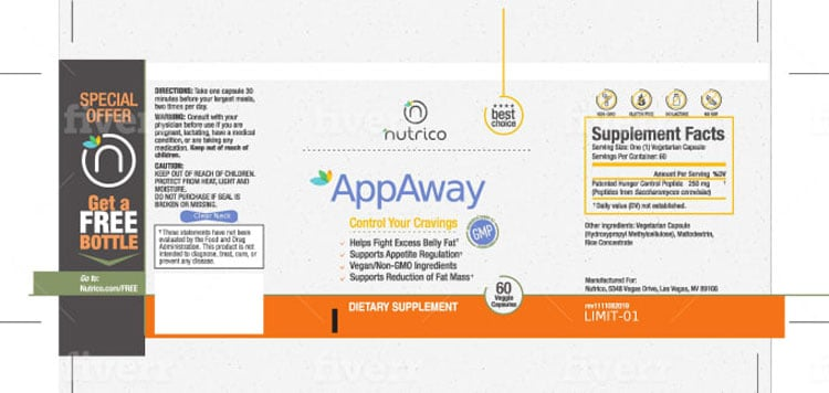 AppAway Supplement Facts