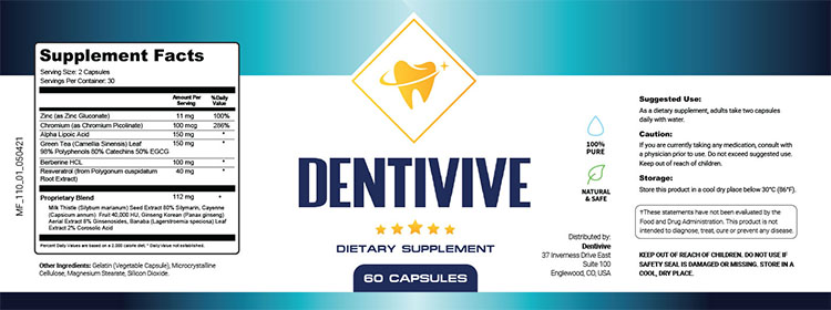 DentiVive Supplement Facts