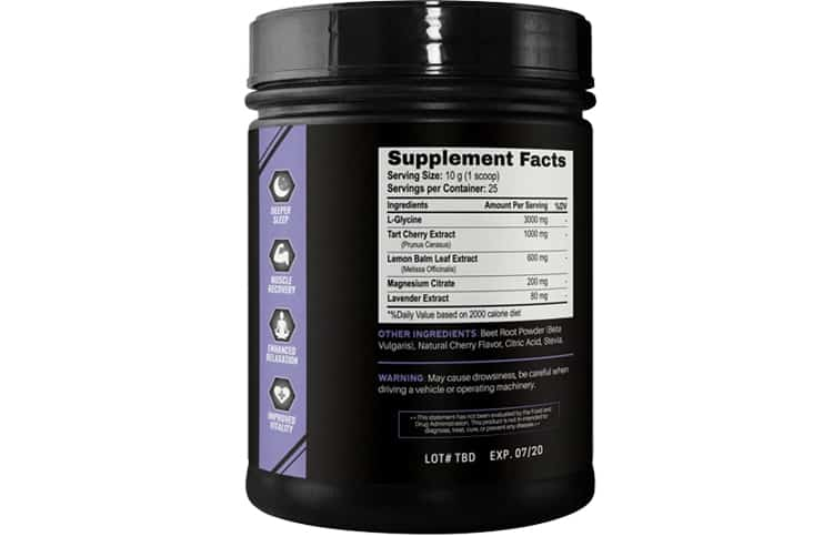 Pitch Black Supplement Facts