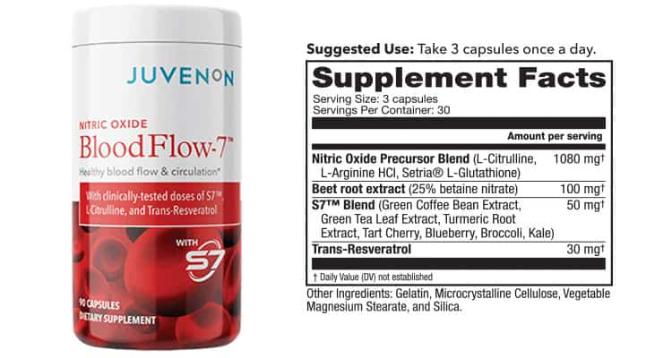 Blood Flow 7 Supplement Facts