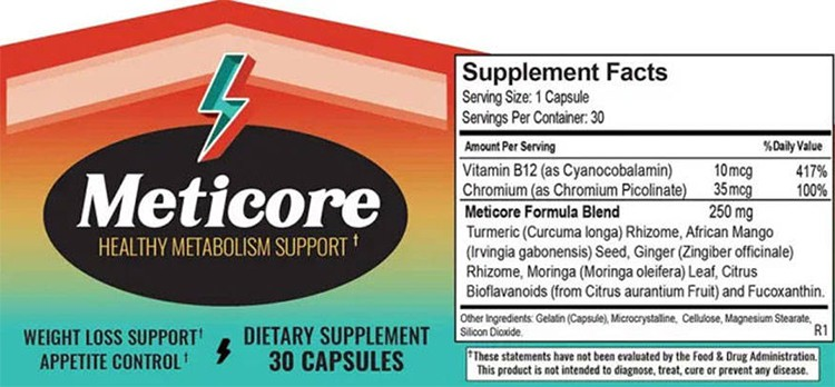 Meticore Supplement Facts