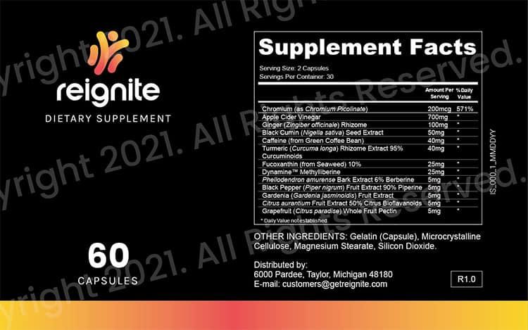 ReIgnite Supplement Facts