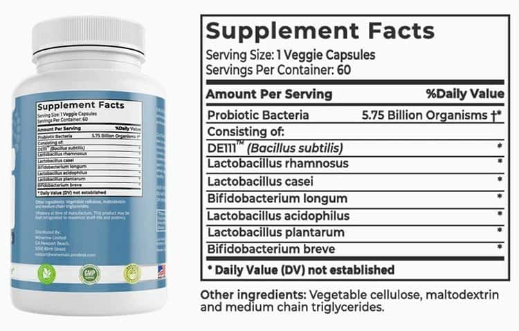 Cellubrate Supplement Facts