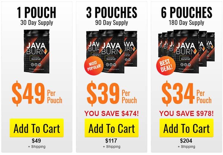 Java Burn Price