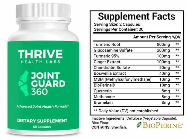 Joint Guard 360 Supplement Facts