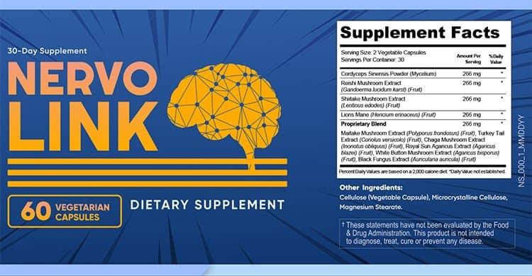 NervoLink Supplement Facts